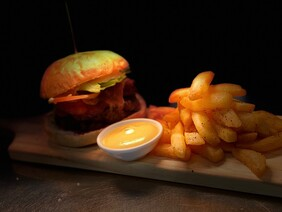 Chicken Burger & Chips